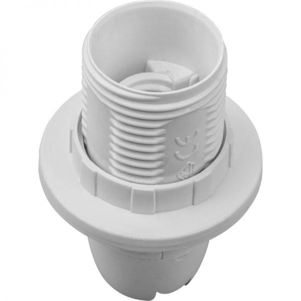 Патрон Е14 з кільцем пластиковий стопорне кільце
