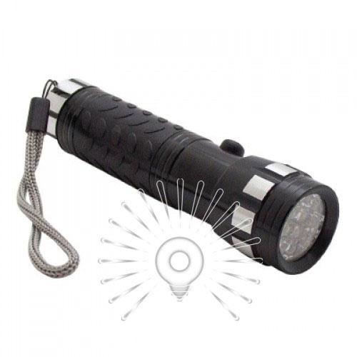 Ліхтарик 14LED чорний алюміній/LMF34