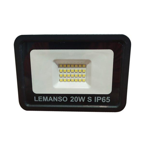 Прожектор LED 20w 6500K IP65 1440LM чорн.мікрохв.датч.LMPS16-20