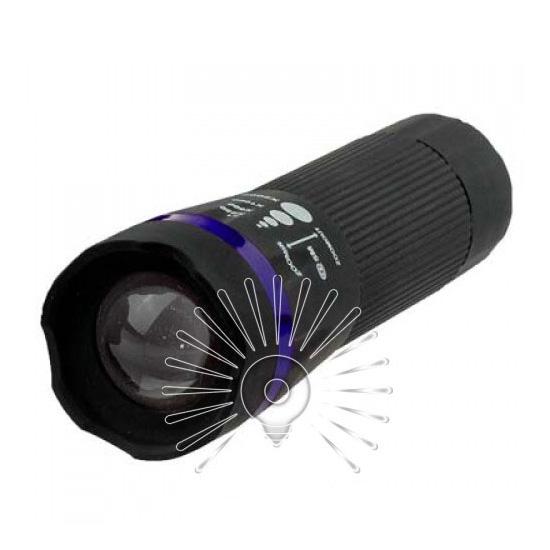 Ліхтарик 1W Lumen чорний пластик/LMF39