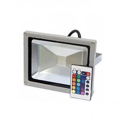 Прожектор LED 20w RGB+пульт IP65 1LED LEMANSO/LMP9-21-RGB сірий