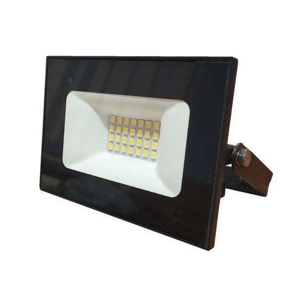 Прожектор LED 10w 6500K IP65 800LM чорн.мікрохв.датч.LMPS71-10