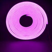 Led NEON рожевий 120B2835-12V-11Wm 8*16mm IP65(неолед)