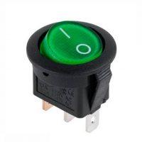Вим. 1 кл. KCD105 круглий зелений з підсвіткою (KCD1-2)