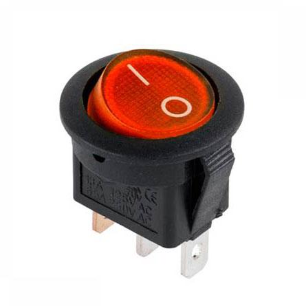 Вим. 1 кл. KCD105 круглий червоний з підсвіткою (KCD2-102)