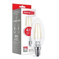 Лампа 1-LED-538 C37 FM-C 4W 4100K 220V E14 LEDнитка