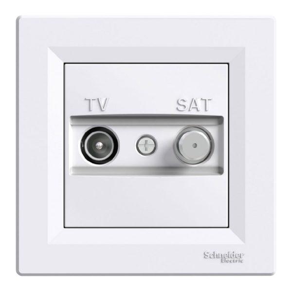 Розетка ASFORA TV/SAV кінцева біла
