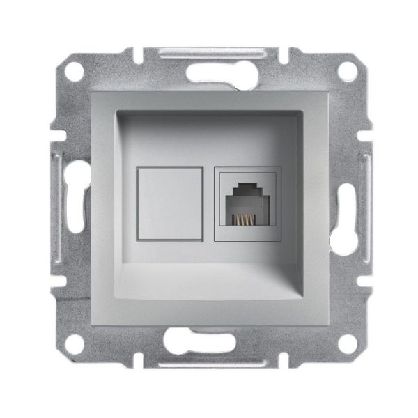 Розетка ASFORA телефонна RJ11 алюміній