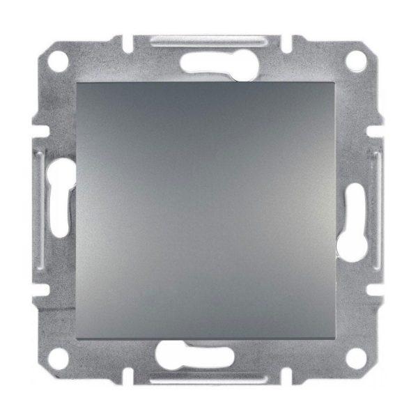 Вимикач ASFORA перехр. 1-кл. (сх.7) сталь