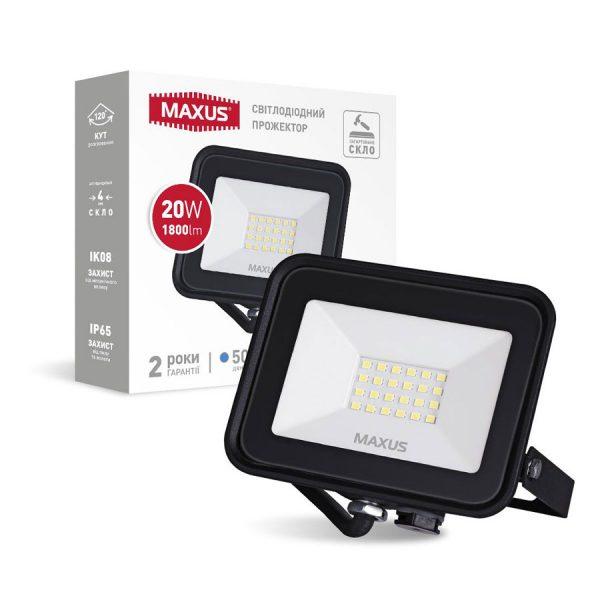 Прожектор LED MAXUS FL-04 20W, 5000K