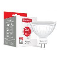 Лампа 1-LED-510 MR16 3W 4100K 220V GU5.3