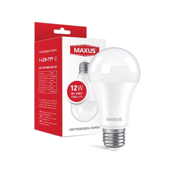 Лампа 1-LED-563-P A65 12W 3000K 220V E27