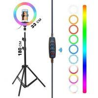Лампа для блогерів D33 RGB + штатив