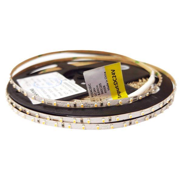 Стрічка вузька 4мм св.діод.(2014)4000К IP20(1м=126діоди) 8,6 Вт/м 24В ціна за 1 метр