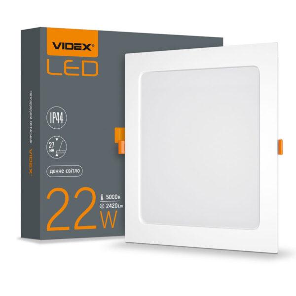 Св-к LED внут.квадр. 22W 5000K IP44 220V (VL-DLBS-225)