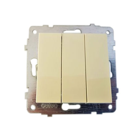 Механізм вимикача 3-кл. Grano кремовий