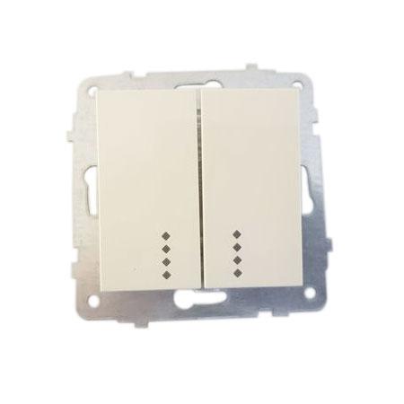 Механізм вимикача 2-кл. з підсв. Grano кремовий