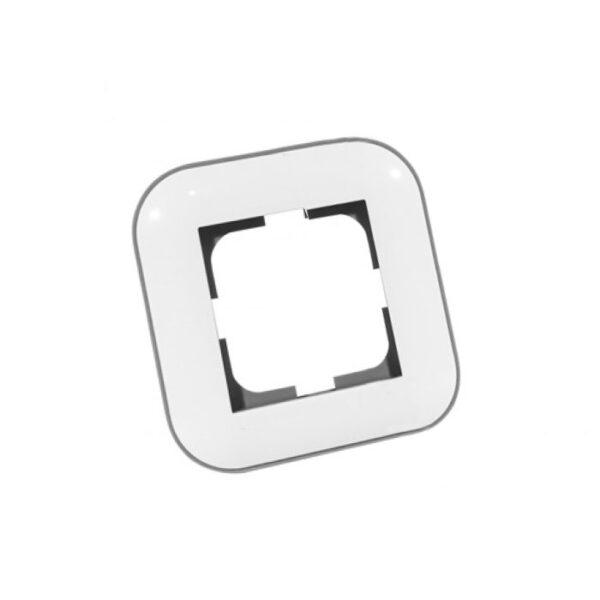 Рамка 1-на Loft білий+сірий