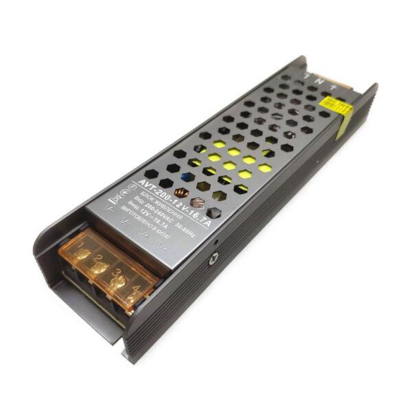 Блок живл. AVT 12V 16.7А – 200W IP20 TM Motoko