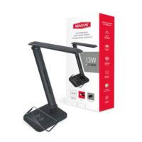 Настільна лампа DL 13W 4100K BL Wireless charger