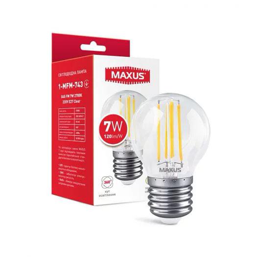 Лампа 1-MFM-743 G45 FM 7W 2700K 220V E27 Clear