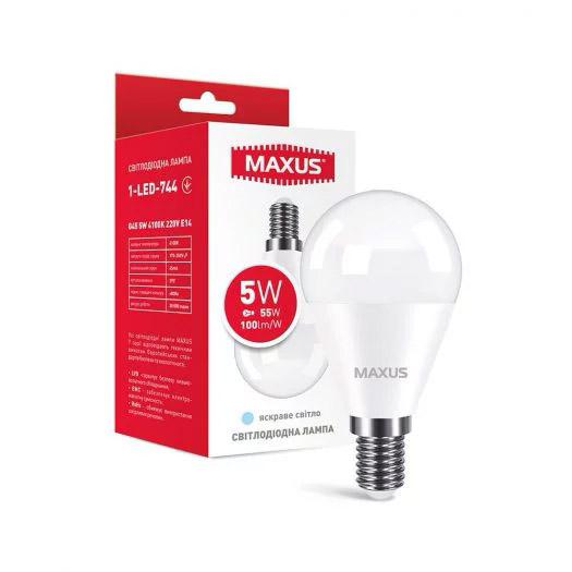 Лампа 1-LED-744 G45 5W 4100K 220V E14; 5W (544)
